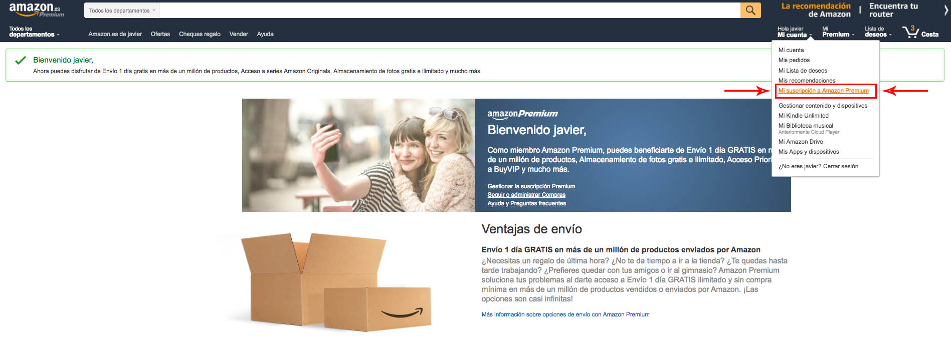 Amazon Premiun Cancelar