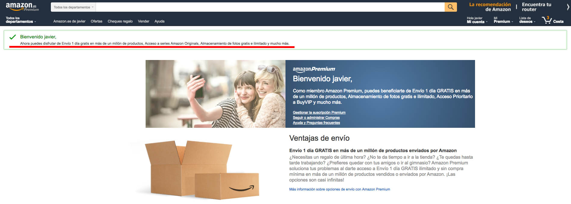 Cancelar Amazon Premiun