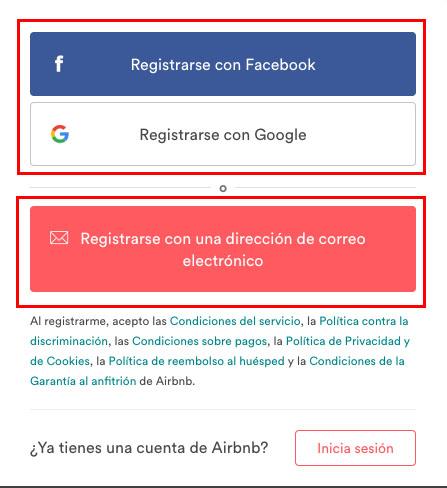 Registro Airbnb