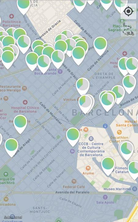 Mapa motos Ecooltra