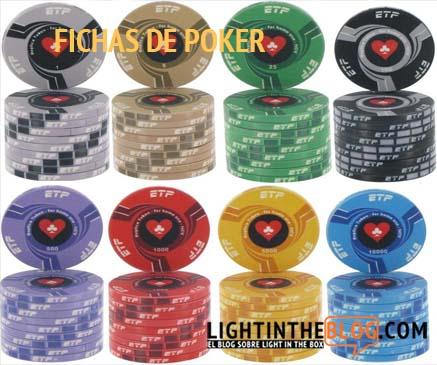 Fichas de poker oferta
