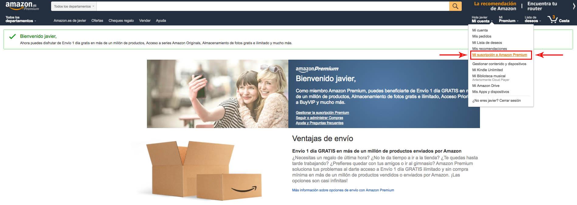 Amazon Premiun Cancelar